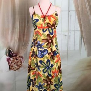 Runvs Sleeveless Maxi Floral Summer Dress